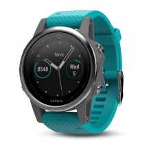 Garmin Silver fēnix® 5S with Turquoise Band by Garmin in North Vancouver Bc
