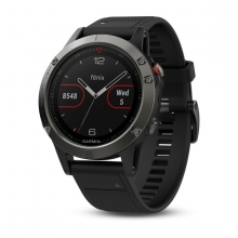 Garmin Slate Gray fēnix® 5 with Black Band by Garmin in Surrey Bc