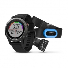 Garmin Slate Gray fēnix® 5 with Black Band, Performer Bundle