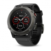 Garmin Slate Gray fēnix® 5X Sapphire with Black Band by Garmin in Vancouver Bc