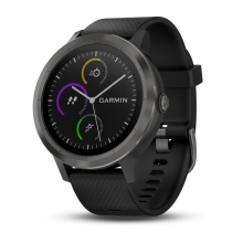 Garmin vívoactive® 3, Black with Slate Hardware by Garmin in Wilton Ct