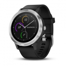 Garmin vívoactive® 3, Black with Stainless Hardware by Garmin in Sherwood Park Ab