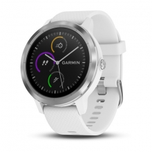 Garmin vívoactive® 3, White with Stainless Hardware by Garmin in Arcadia Ca
