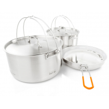 Glacier Stainless Troop Cookset by GSI Outdoors in Loveland CO