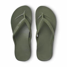 Arch Support Flip Flops - Khaki by Archies