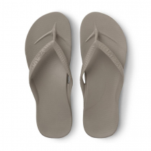 Arch Support Flip Flops - Taupe