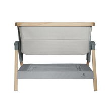 California Dreaming Portable Crib Gray Wood