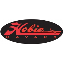 "Decal, 12""  Fishing Black by Hobie"