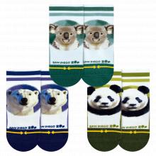 San Diego Zoo Bears Baby Sock 3 pk by Merge4