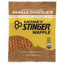 Gluten Free Organic Waffles - 1 oz Waffle Box of 16 -Vanilla Chocolate by Honey Stinger