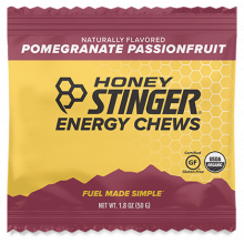 Energy Chews - 1.8 oz Bag Box of 12- Pomegranate Passionfruit by Honey Stinger in Colorado Springs CO