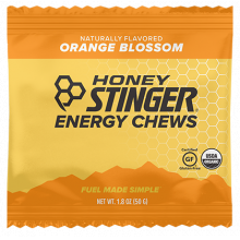 Energy Chews - 1.8 oz Bag Box of 12- Orange Blossom by Honey Stinger in Colorado Springs CO