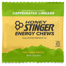 Energy Chews - 1.8 oz Bag Box of 12- Caffeinated Limeade by Honey Stinger in Colorado Springs CO