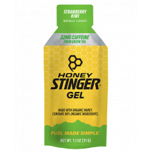 Organic Energy Gels - 1 oz Pack Box of 24 - Strawberry Kiwi Caffeinated by Honey Stinger in Colorado Springs CO