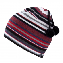 Women's Stripe Double Pom Beanie by Ibex