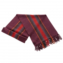 Men's Stripe Scarf w/ Fringe by Ibex