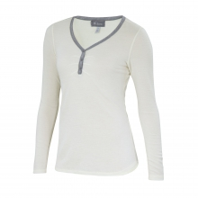 Women's Waffle Knit Henley by Ibex in Iowa City Ia