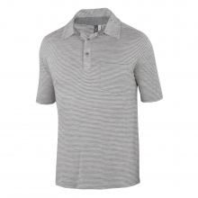 Men's OD Heather Polo Stripe by Ibex