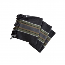Stripe Scarf with Fringe by Ibex in Okemos Mi