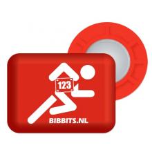 Magnetic Race Bib Holders-Red, Runner