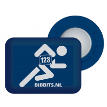 Magnetic Race Bib Holders-Blue, Runner