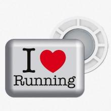 """Magnetic Race Bib Holders """"I Love Running"""""""