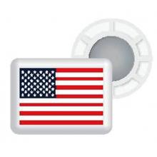 Magnetic Race Bib Holders-USA Flag, White