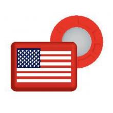 Magnetic Race Bib Holders-USA Flag, Red by BibBits