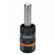 Cassette & center lock disc brake remover for Shimano CS W/12mm guide pin. by Icetoolz