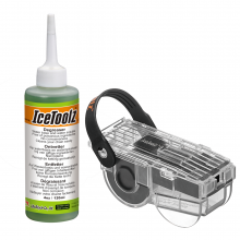 Chain Scrubber and Concentrated Degreaser Combo set contains  #C115 Chain Scrubber,  #C133 Concentrated Degreaser 4 oz/120 ml by Icetoolz