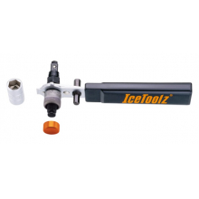 Crank Arm Remover Deluxe for square & hollow BB axles w/handle,14/15 socket & 7/8mm hex key by Icetoolz
