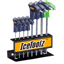 Hex Key Wrench Set TwinHead w/2,2.5,3,4,5,6,8 ball ended & T-255 star. by Icetoolz