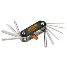 """Multi Tool Set """"Compact-11""""-1.5, 2,  2.5, 3, 4 5, 6, 8 hex key, +/-screw-driver, T-25 star wrench (150g)"""