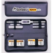 Tap Pro set w/handle & pouch for 3m x 0.5 dropout alignment screws, 5m x 0.8 water bottle,fender eyelets,6mx1.0 anti-brake large fender bracket, 10 m x1, derailleur hangar, 1/2 x 20tpi L & R pedal taps,9/16 x 20tpi L & R pedal taps. by Icetoolz