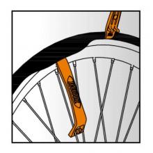 Tire Lever Set (2 pcs) Duo-function fiberglass