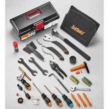 Pro Shop Mechanic Tool Kit that includes: Carrying Case, WD-40 (1.5oz/51ml), #C153, #53R4, #33S1, #53S3, #C121, #0502, #62M1, #04C2, #09C1, #12F8, #56E6, #M091, #30C1, #67B4, #97T1, #97A3, #25H6,  #35V8, #64P3, #28P1, #28S6, #27P3 by Icetoolz