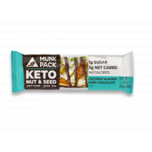 Coconut Almond Dark Chocolate by Munk Pack