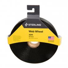 "1"" Tubular Mil-Sp Web Wheel Black 30' by Sterling Rope"