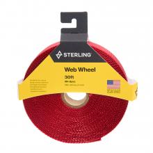 "1"" Tubular Mil-Spec Web Wheel Red 30'"