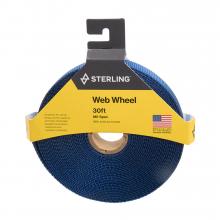 """1"""" Tubular Mil Sp Web Wheel N Yel. 30' by Sterling Rope"""