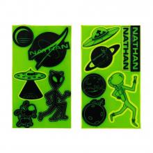 Reflective Sticker Pack - Aliens