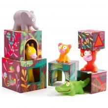 Maxi Topanijungle Nest and Stack Blocks + Animals by DJECO