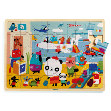 Puzzlo Airport Wooden Jigsaw Puzzle by DJECO in Bethesda MD