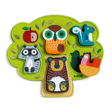 Oski Embroidered Felt and Wooden Puzzle