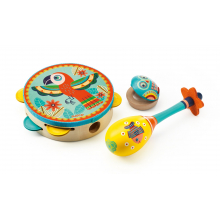 Animambo Tambourine, Maraca, Castanet Musical Instrument Set by DJECO in Marshfield WI