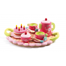 Lilli Rose Tea Party Wooden Tea Set by DJECO in Marshfield WI