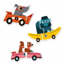 Racing Cars Puzzle Duo Matching Activity