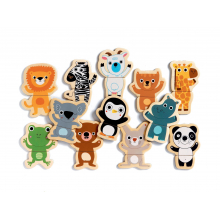 Coucou Animal Mix & Match Wooden Animal Magnets