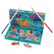 Fishing Graphic Wooden Magnetic Fishing Game by DJECO in Squamish BC