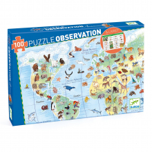 World Animals 100pc Observation Jigsaw Puzzle + Poster + Booklet